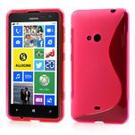 Gelové S-line pouzdro pro Nokia Lumia 625- růžové - 1/6