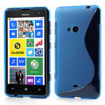 Gelové S-line pouzdro pro Nokia Lumia 625- modré - 1/6