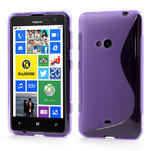 Gelové S-line pouzdro pro Nokia Lumia 625- fialové - 1/6