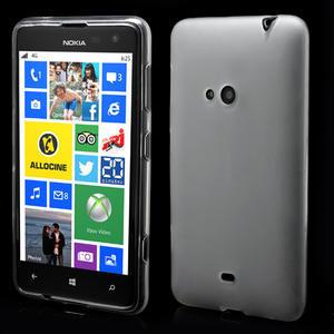 Gelové matné pouzdro pro Nokia Lumia 625- bílé - 1