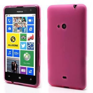 Gelové matné pouzdro pro Nokia Lumia 625- růžové - 1