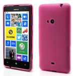 Gelové matné pouzdro pro Nokia Lumia 625- růžové - 1/5