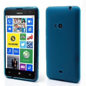 Gelové matné pouzdro pro Nokia Lumia 625- světlemodré - 1