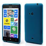 Gelové matné pouzdro pro Nokia Lumia 625- světlemodré - 1/5