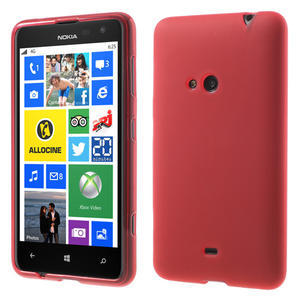 Gelové matné pouzdro pro Nokia Lumia 625- červené - 1
