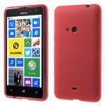 Gelové matné pouzdro pro Nokia Lumia 625- červené - 1/5