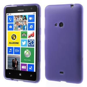 Gelové matné pouzdro pro Nokia Lumia 625- fialové - 1