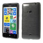 Gelové kartáčové pouzdro na Nokia Lumia 625 - šedé - 1/5