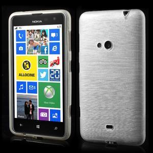 Gelové kartáčové pouzdro na Nokia Lumia 625 - bílé - 1