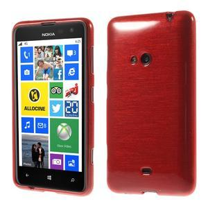 Gelové kartáčové pouzdro na Nokia Lumia 625 - červené - 1