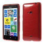Gelové kartáčové pouzdro na Nokia Lumia 625 - červené - 1/5