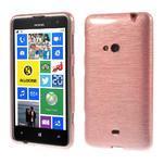 Gelové kartáčové pouzdro na Nokia Lumia 625 - světlerůžové - 1/5