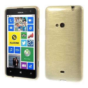 Gelové kartáčové pouzdro na Nokia Lumia 625 - zlaté - 1
