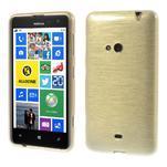 Gelové kartáčové pouzdro na Nokia Lumia 625 - zlaté - 1/5