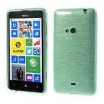 Gelové kartáčové pouzdro na Nokia Lumia 625 - cyan - 1/5