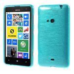 Gelové kartáčové pouzdro na Nokia Lumia 625 - modré - 1/5