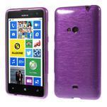 Gelové kartáčové pouzdro na Nokia Lumia 625 - fialové - 1/5