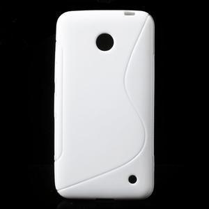 Gelové S-line pouzdro na Nokia Lumia 630- bílé - 1