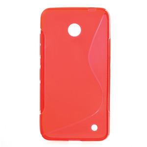 Gelové S-line pouzdro na Nokia Lumia 630- červené - 1