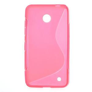 Gelové S-line pouzdro na Nokia Lumia 630- růžové - 1