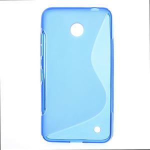 Gelové S-line pouzdro na Nokia Lumia 630- modré - 1