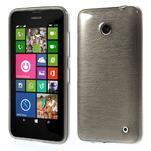 Gelové Kartáčové pouzdro na Nokia Lumia 630- šedé - 1/7