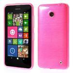 Gelové Kartáčové pouzdro na Nokia Lumia 630- růžové - 1/5