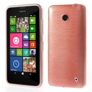 Gelové Kartáčové pouzdro na Nokia Lumia 630- světlerůžové - 1