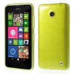 Gelové Kartáčové pouzdro na Nokia Lumia 630- zelené - 1/5