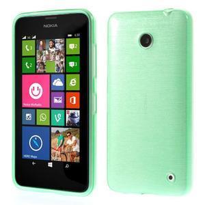 Gelové Kartáčové pouzdro na Nokia Lumia 630- zelenomodré - 1