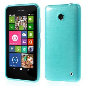 Gelové Kartáčové pouzdro na Nokia Lumia 630- modré - 1