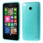 Gelové Kartáčové pouzdro na Nokia Lumia 630- modré - 1/5