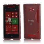 Gelové S-line pouzdro pro HTC Windows phone 8X- šedé - 1/4