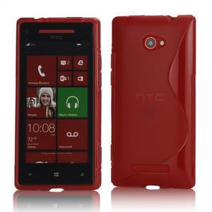 Gelové S-line pouzdro pro HTC Windows phone 8X- červené - 1