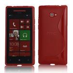 Gelové S-line pouzdro pro HTC Windows phone 8X- červené - 1/4