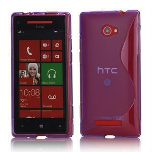 Gelové S-line pouzdro pro HTC Windows phone 8X- fialové - 1
