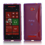 Gelové S-line pouzdro pro HTC Windows phone 8X- fialové - 1/4