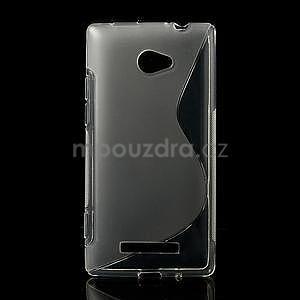 Gelové S-line pouzdro pro HTC Windows phone 8X- transparentní - 1