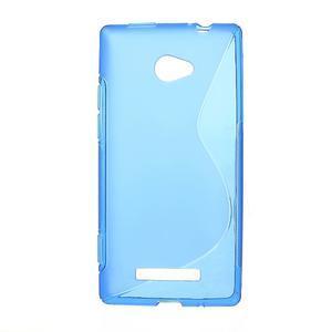 Gelové S-line pouzdro pro HTC Windows phone 8X- modré - 1