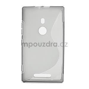 Gelové S-liné pouzdro pro Nokia Lumia 925- šedé - 1