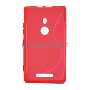 Gelové S-liné pouzdro pro Nokia Lumia 925- červené - 1