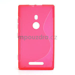 Gelové S-liné pouzdro pro Nokia Lumia 925- růžové - 1