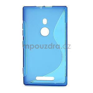 Gelové S-liné pouzdro pro Nokia Lumia 925- modré - 1