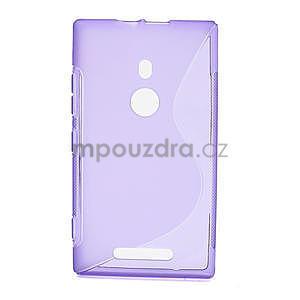 Gelové S-liné pouzdro pro Nokia Lumia 925- fialové - 1