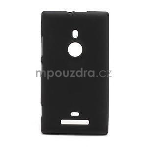 Gelové matné pouzdro pro Nokia Lumia 925- černé - 1