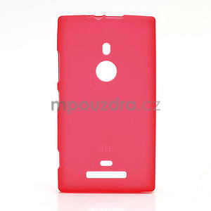 Gelové matné pouzdro pro Nokia Lumia 925- červené - 1