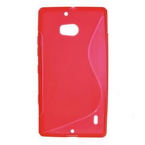 Gelové S-line pouzdro na Nokia Lumia 930- červené - 1