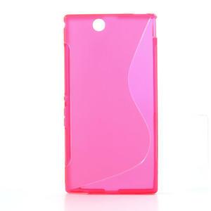 Gelove S-line pouzdro na Sony Xperia Z ultra- růžové - 1