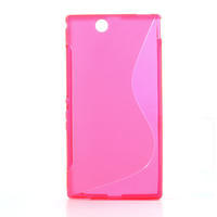Gelove S-line pouzdro na Sony Xperia Z ultra- růžové - 1/5