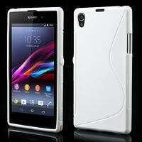 Gelové S-line pouzdro na Sony Xperia Z1 C6903 L39- bílé - 1/5